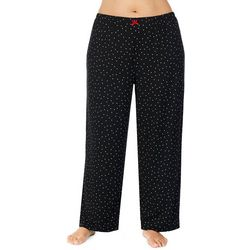 Ellen Tracy Plus Polka Dot Print Pajama Pants