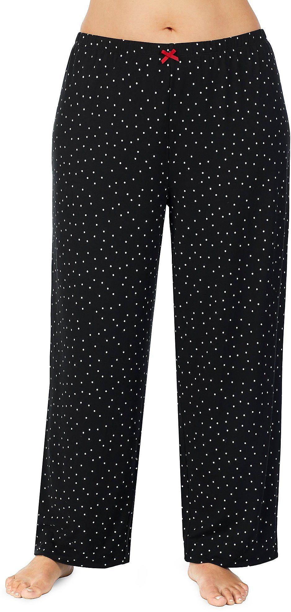 b3de859e76b3 Ellen Tracy Plus Polka Dot Print Pajama Pants | eBay