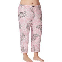 Ellen Tracy Plus Paisley Print Pajama Capri Pants