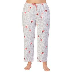 Ellen Tracy Plus Flamingo Palm Cropped Pajama Pants