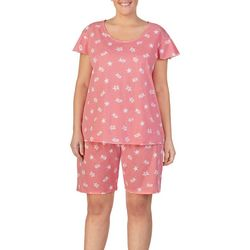 Ellen Tracy Plus Sea Turtle Print Pajama Bermuda Set