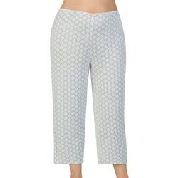 Ellen Tracy Plus Medallion Print Cropped Pajama Pants
