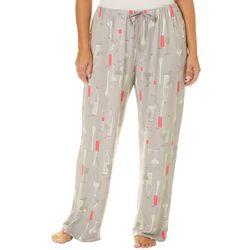 Hue Plus Soft Summer Cocktails Long Pajama Pants