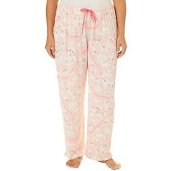 Hue Plus Soft Dog Print Long Pajama Pants