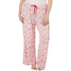 Hue Plus Rose Spritz Long Pajama Pants