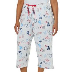 Plus Sail Away Capri Pajama Pants