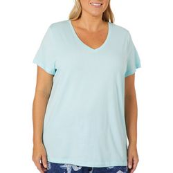 Hue Plus Replenish Solid Short Sleeve Pajama Top