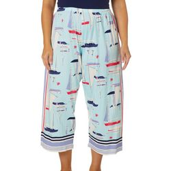 Hue Plus All At Sea Sailboat Capri Pajama
