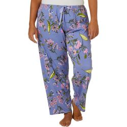 Hue Plus Flower Eden Skimmer Pajama Pants