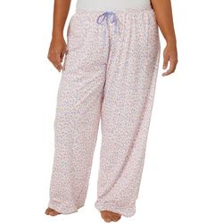 Hue Plus Ditzy Bloom Print Long Pajama Pants