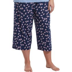 Plus Beach Chair Print Capri Pajama Bottoms