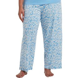 Hue Plus Leopard Print Long Pajama Pants