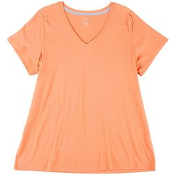 Plus Replenish Solid Short Sleeve V-Neck Pajama Top