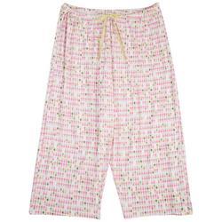 Womens Pineapple Pajama Bermuda Shorts
