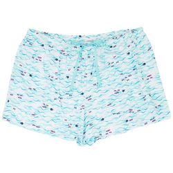 Hue Plus Wave Print Pajama Boxer Shorts