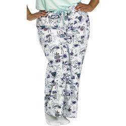 Plus Pamper Yourself Long Pajama Pants