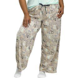 Hue Plus Doggie Print Drawstring Pajama Pants