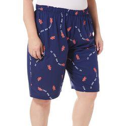 Hue Plus Lobster Pajama Bermuda Shorts