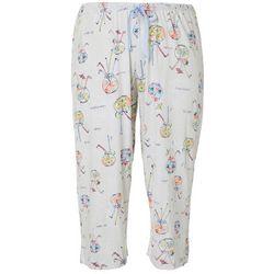 Hue Plus Fish Bowl Print Capri Pajama Bottoms