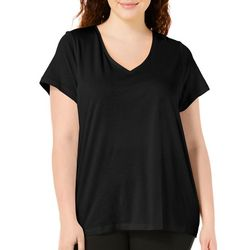 Hue Plus V-Neck Solid Pajama Top