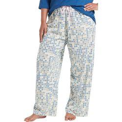 Hue Plus Geo Pop Print Long Pajama Pants