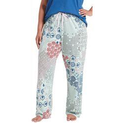 Hue Plus Patchwork Print Long Pajama Pants