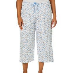 Hue Plus Summer Cocktails Capri Pajama Pants