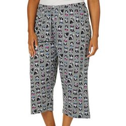 Hue Plus Frenchie Print Capri Pajama Pants