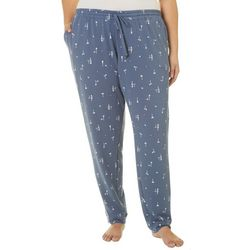 Hue Plus Summer Party Print Cuffed Pajama Pants