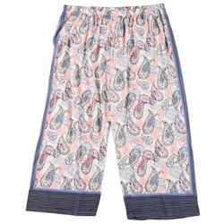 Hue Plus Bubble Paisley Capri Pajama Pants