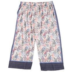 Plus Bubble Paisley Capri Pajama Pants
