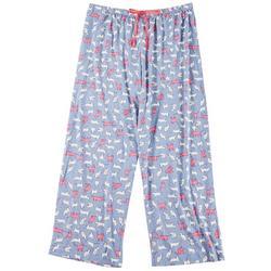 Plus Purring Print Pajama Pants
