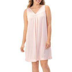 Exquisite Form Plus Floral Emboidered Sleeveless  Nightgown