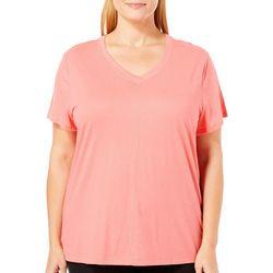 Coral Bay Plus Solid V-Neck Pajama Top