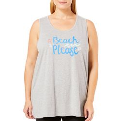 Coral Bay Plus Beach Please Pajama Tank Top
