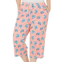 Coral Bay Plus Turtle Pajama Capri Pants