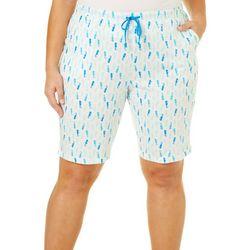 Coral Bay Plus Seahorse Pajama Bermuda Shorts