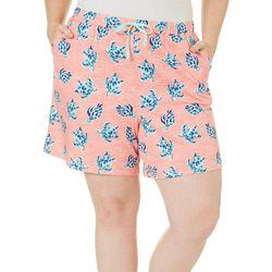 Coral Bay Plus Turtle Pajama Shorts