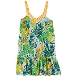 Coral Bay Plus Tropical Sleeveless Nightgown