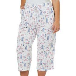 Coral Bay Plus Flamingo Print Capri Pajama Pants