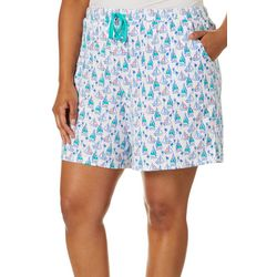 Coral Bay Plus Sailboat Pajama Shorts