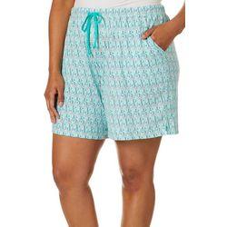 Coral Bay Plus Mermaid Pajama Bermuda Shorts