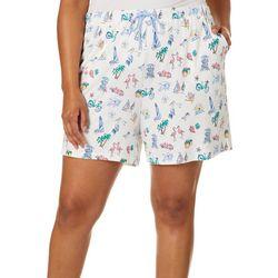 Coral Bay Plus Florida Right Pajama Shorts