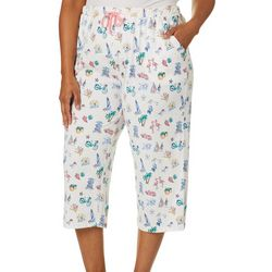 Coral Bay Plus Florida Right Print Capri Pajama Pants