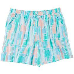 Coral Bay Plus Verticle Stripe Pajama Shorts