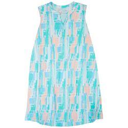 Coral Bay Plus Crayon Stripe Print Nightgown