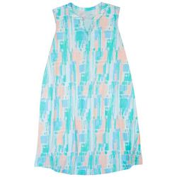 Plus Crayon Stripe Print Nightgown