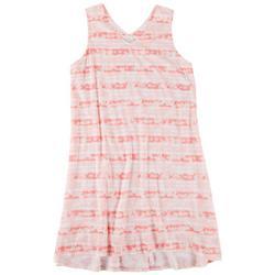 Plus Flamingo Stripe Print Nightgown