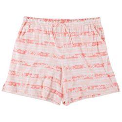 Coral Bay Plus Flamingo Stripe Pajama Shorts