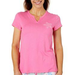 Coral Bay Plus Starfish Embellished Pajama Top